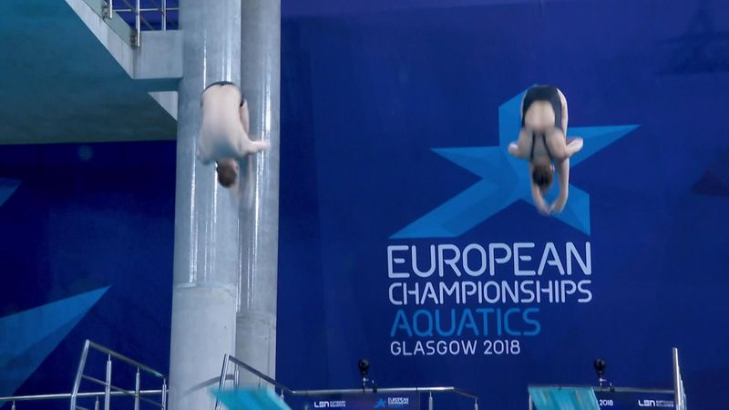 Reid and Haslam win silver in mixed syncronised 3m springboard