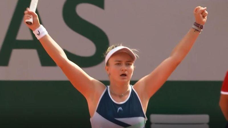 Vierter Matchball verwandelt: So machte Krejcikova den Titel klar
