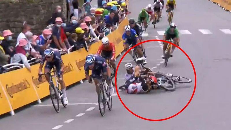 Schwerer Sagan-Sturz im Sprint - das Finale der 3. Etappe