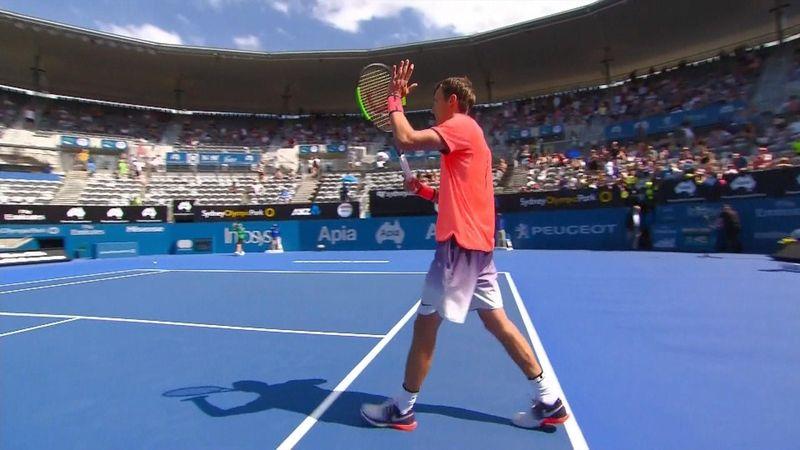 Sydney highlights: Kuznetsov reaches first ATP semi-finals