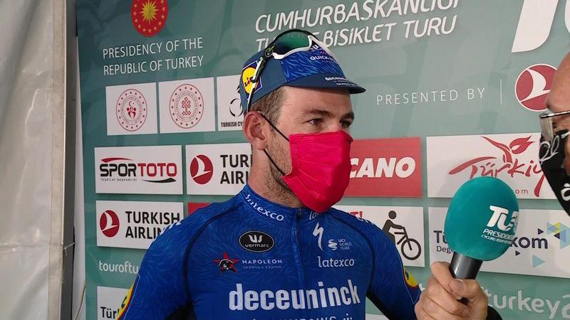 Jubilant Cavendish celebrates hat-trick at Tour of Turkey