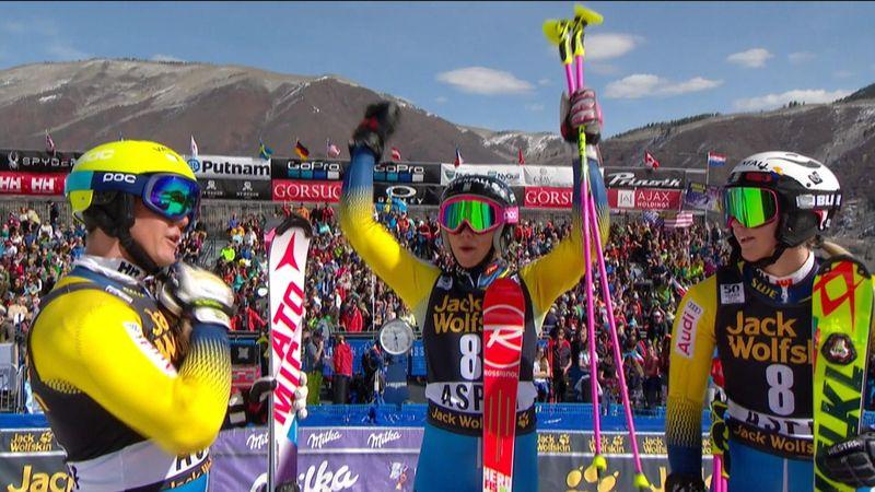 Copa del Mundo: Suecia, campeona por equipos en el eslalon paralelo de Aspen