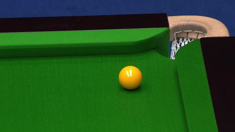 OpenChina: La malísima suerte de Selby tras un tiro genial, la bola amarilla salió fuera de la mesa