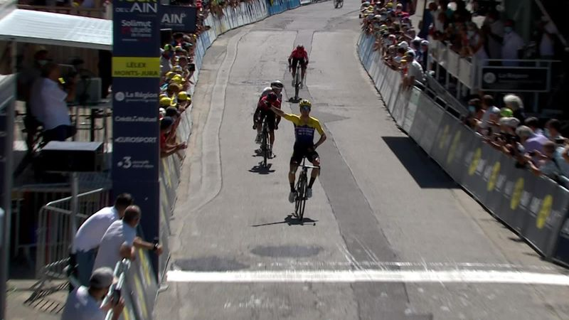Primoz Roglic bounces back to take Stage 2 of Tour de l'Ain