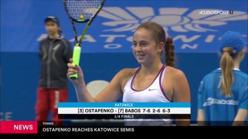 Остапенко вышла в полуфинал турнира в Катовице
