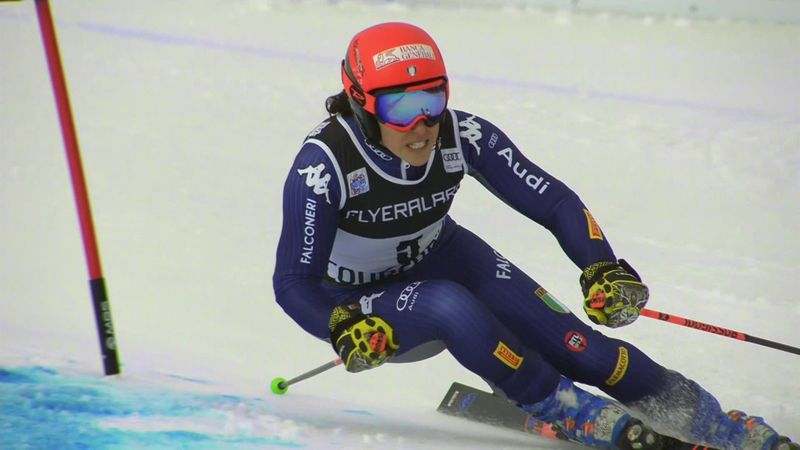 Alpineskiën | Brignone derde in eerste run Courchevel