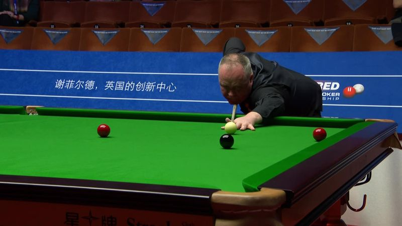 Higgins makes 127 break to seize control of first-round match