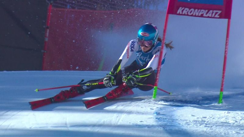 'That may have won the race already' - Shiffrin lays down blisteringly quick first run