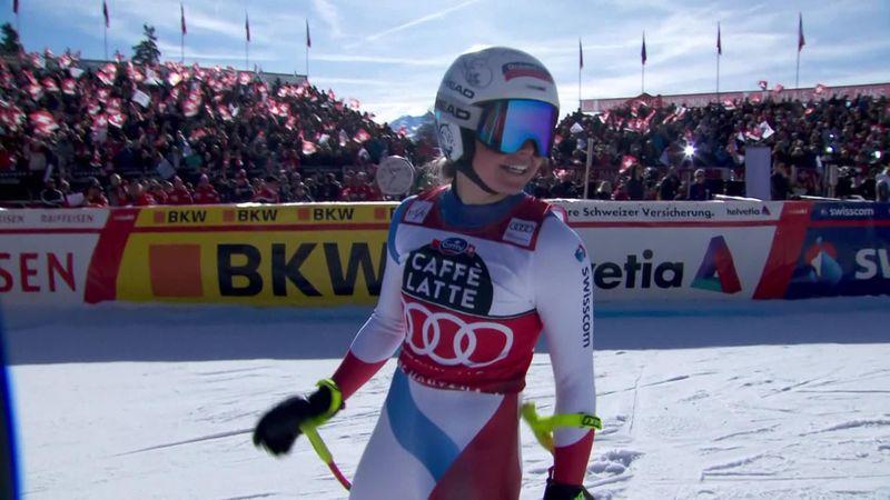Esquí alpino, Copa del Mundo: El descenso que le dio el Globo de Cristal a Corinne Suter