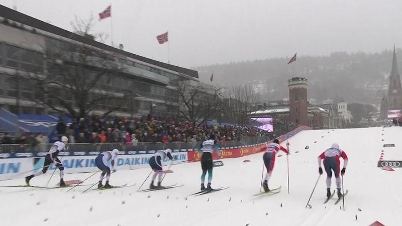 Langlauf-Weltcup: Das Finale im Sprint der Herren in Drammen