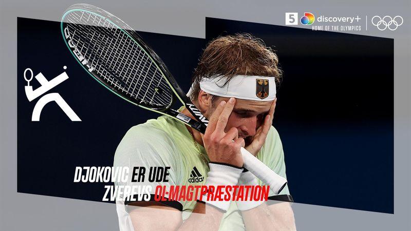 Highlights: Zverev smadrer Djokovic drømme om Golden Slam efter tre sæt