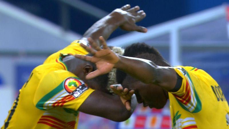 Yves Bissouma nails free-kick from 30 yards to level scores against Uganda