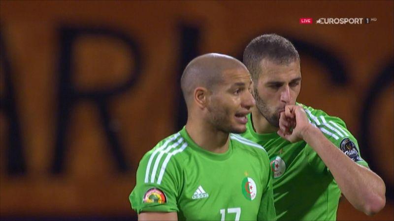 Slimani lobs Senegal keeper with shot off shin