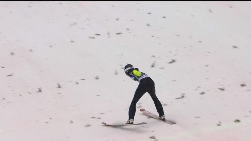 Ski jumper Kevin Bickner's huge crash after 234m flight