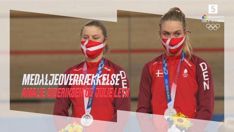 Danmarks anden sølvmedalje – se Dideriksen og Leth få overrakt deres medaljer