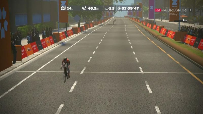 Watch the finish: Moolman Pasio storms to victory on Stage 2