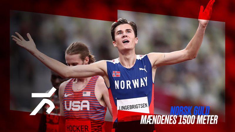 Norsk guld og olympisk rekord i mændenes 1500 meter løb