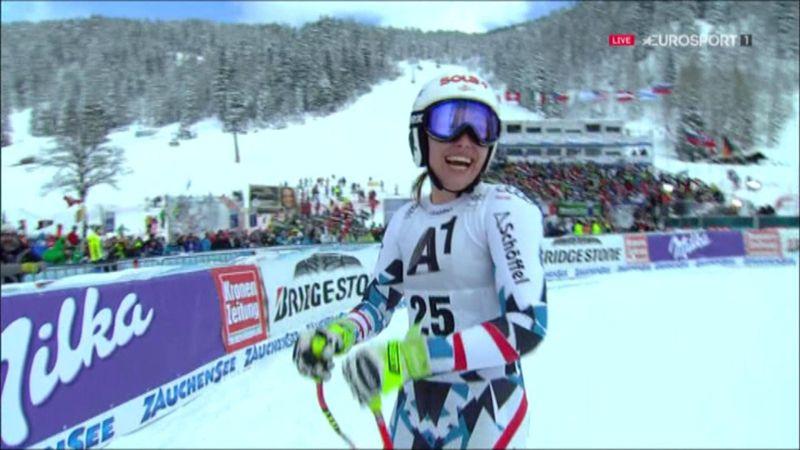 Christine Scheyer claims surprise downhill win
