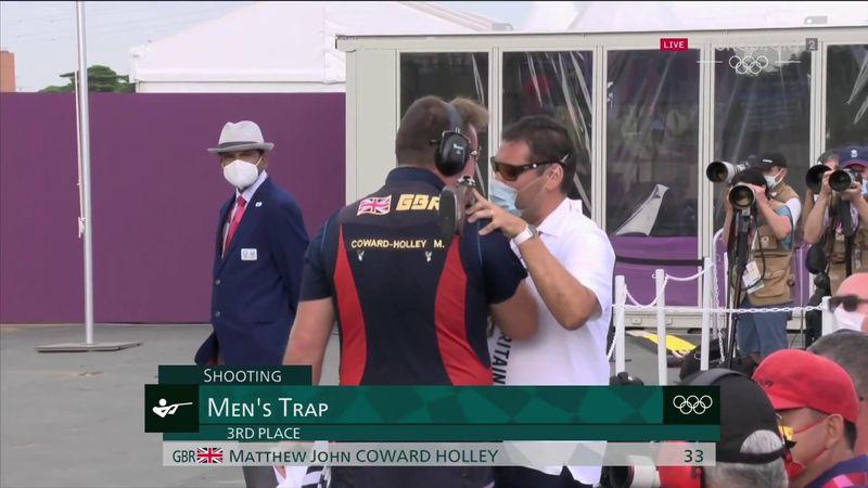 'A fine reward' - GB's Coward-Holley wins bronze in men's trap