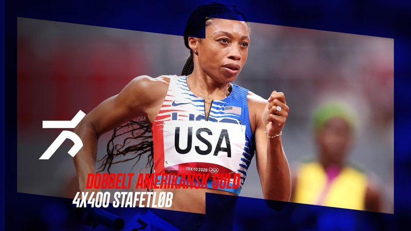 Dobbelt amerikansk guld i 4X400 stafetløb