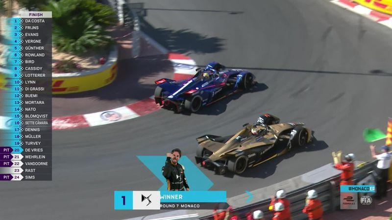 Da Costa in trionfo a Monaco! Beffati Frijns e Evans