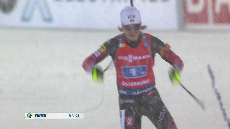 Biatlón, Copa del Mundo: Roiseland llevó a Noruega al triunfo en el relevo femenino