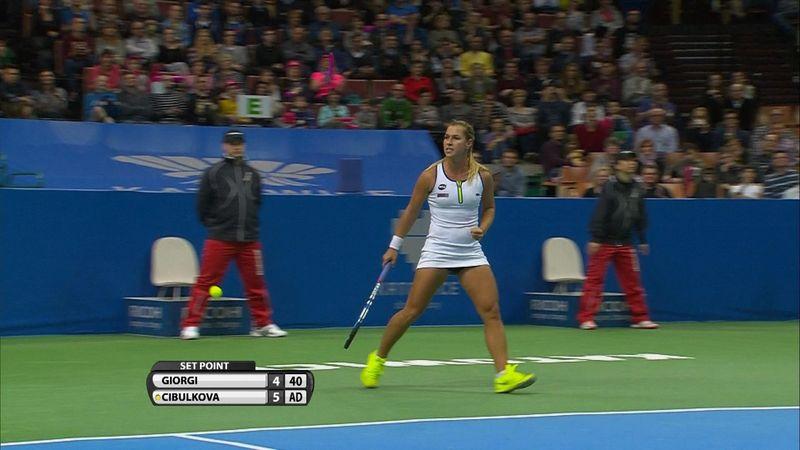 Highlights: Cibulkova takes title with win over Giorgi