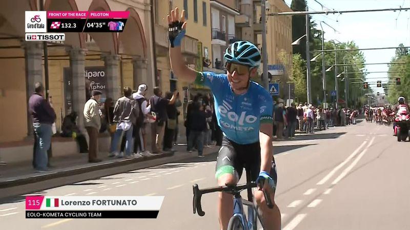 Lorenzo Fortunato passa da casa: saluti a tutta la città