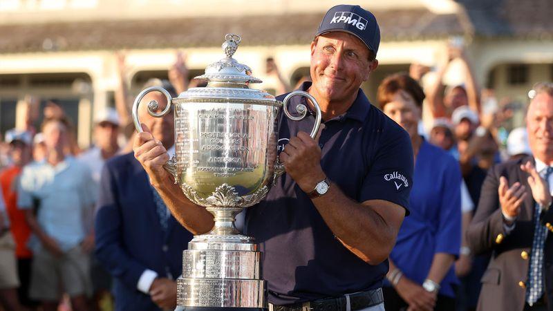 Le moment où Mickelson s'impose à l'US PGA