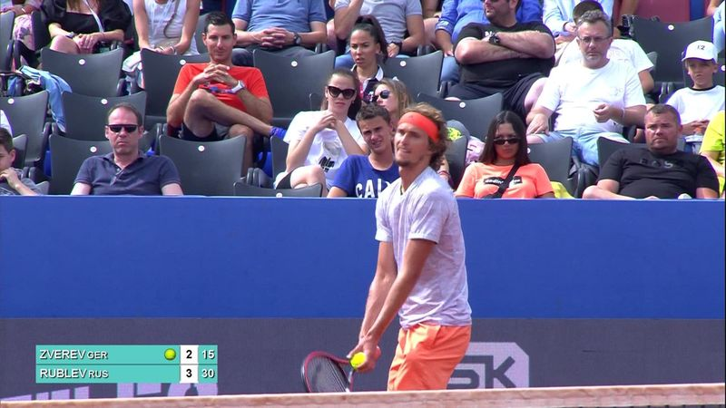 Angry Zverev throws his racket as frustration gets the better of him at Adria Tour