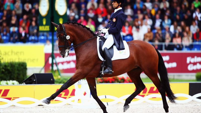 Horse performs to Black Eyed Peas in dressage at London 2012