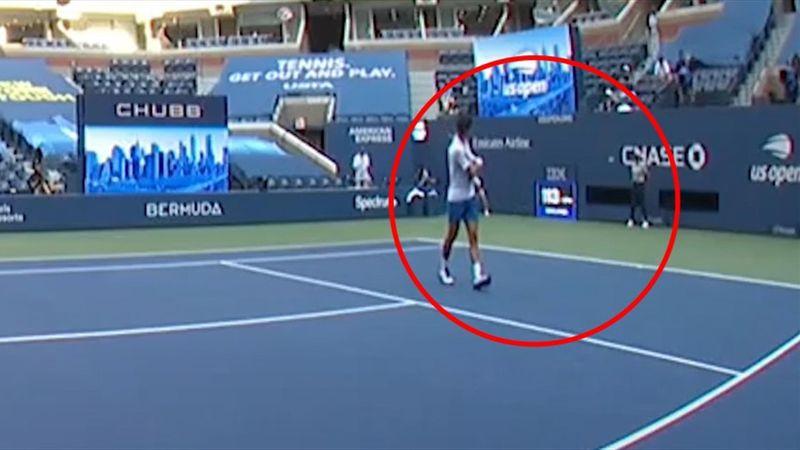 Unfassbare Szene! Dieser Aussetzer kostet Djokovic die US Open