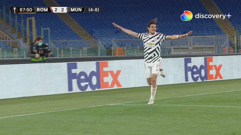 Cavani lukrerer på lækker Fernandes-assist: United slukker definitivt Romas håb