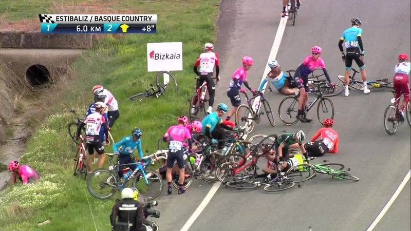 Vuelta al Pais Vasco : huge crash involving Julian Alaphilippe and Geraint Thomas