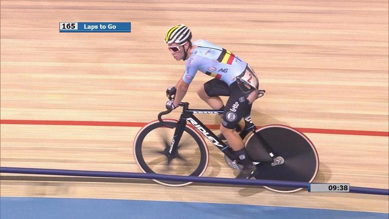 Europeos de Ciclismo en Pista 2019: Susto con fortuna para Van den Bossche