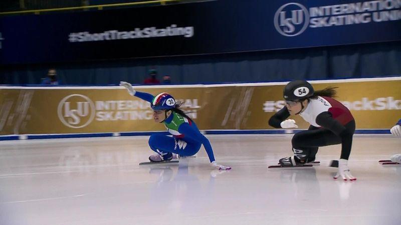 Che peccato la Mascitto nei 500m: cade mentre era in testa