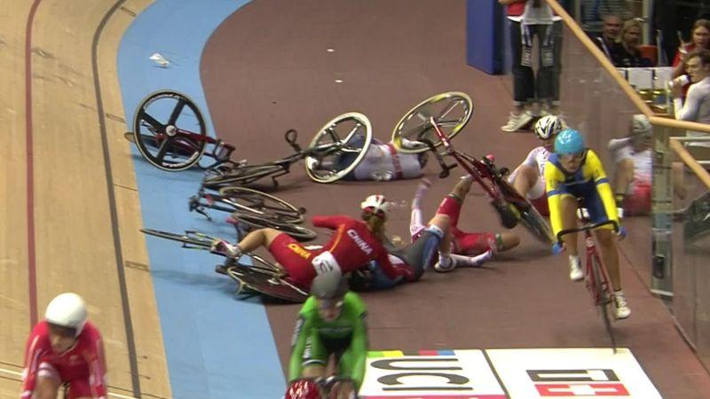 UCI World Cup Berlijn: Keiharde valpartij in omnium bij de vrouwen
