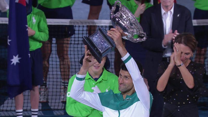 Australian Open| De speech van Novak Djokovic na zijn overwinning op Medvedev
