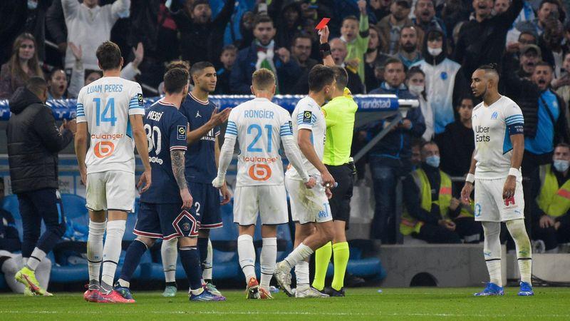 PSG patzt gegen Marseille - Hakimi fliegt vom Platz