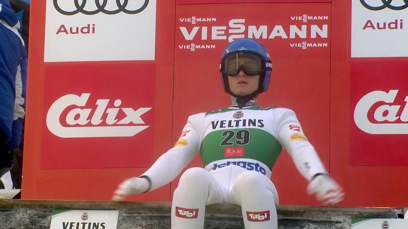 Johannes Lamparter se adelanta en Ruka con un salto de 147,5 metros