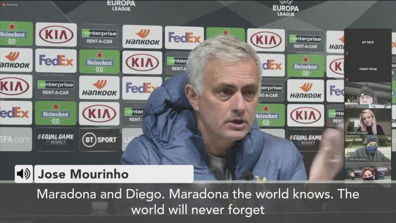 Mourinho: Maradona would always call me after big defeats
