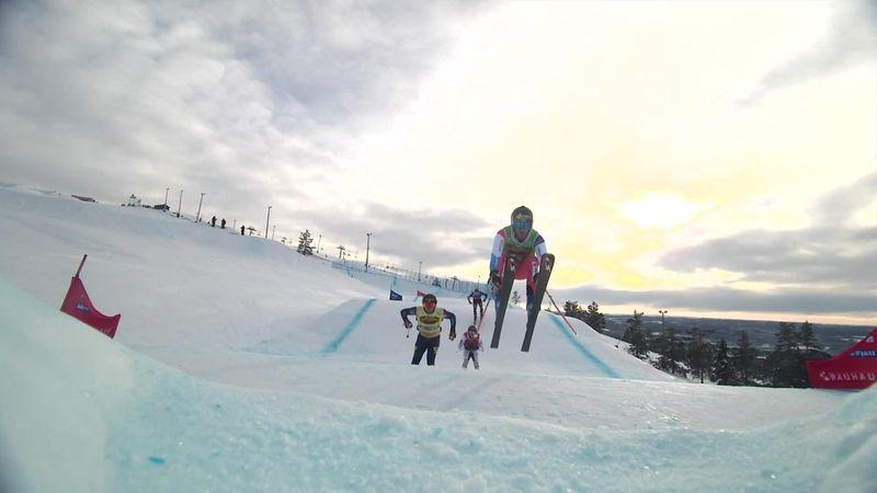 Alex Siva takes Ski Cross gold as Britain's Ollie Davies finishes fourth