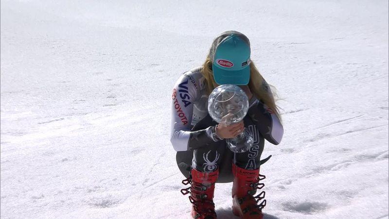 Las lágrimas de Shiffrin tras ganar su cuarto Globo de Cristal