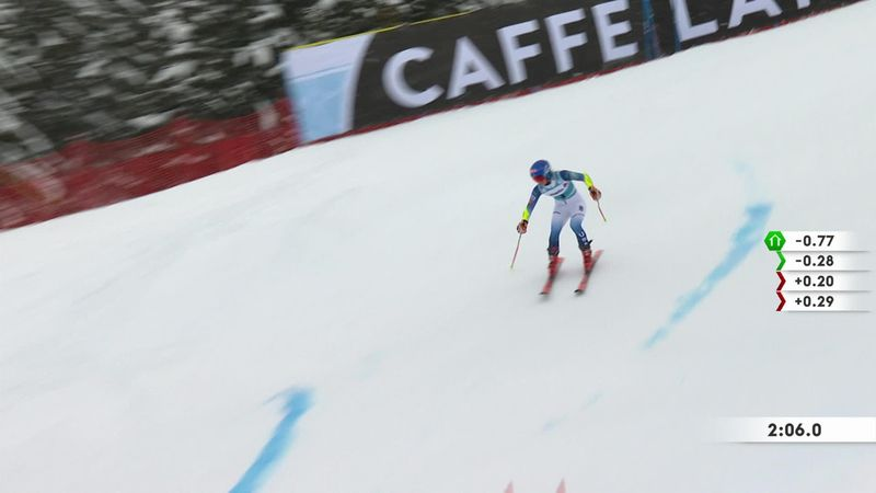 Shiffrin n'a pas mis assez d'intensité dans son ski : sa 2e manche de géant