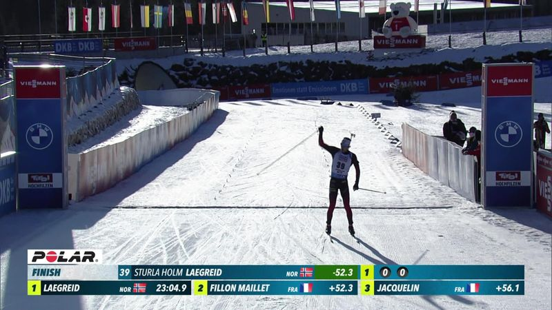 Laegreid claims second World Cup win of his career in Hochfilzen