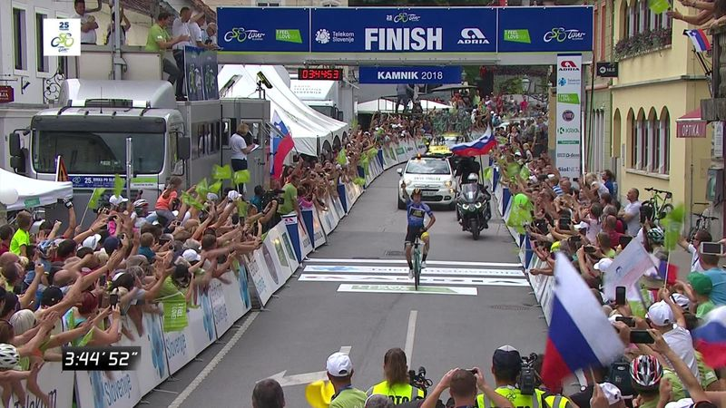 Tour de Eslovenia 2018 (4ª etapa): Primoz Roglic, profeta en su tierra con un buen hachazo