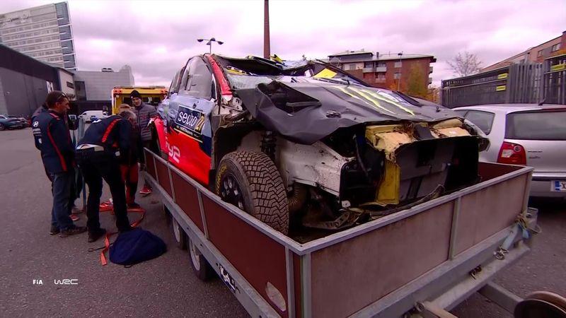 Solbergs bil smadret: Se de store skadene her