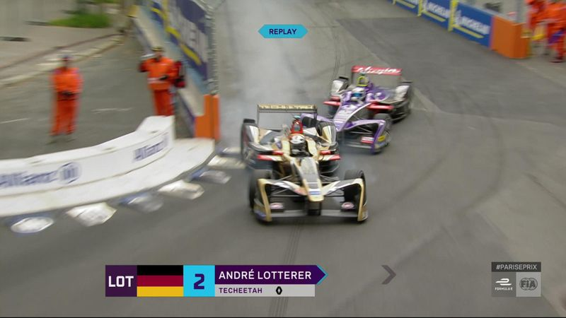Fórmula E, París: Lotterer firma el mejor adelantamiento de la carrera