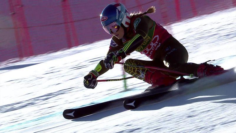 World Cup Sölden | Mikaela Shiffrin wint eerste run