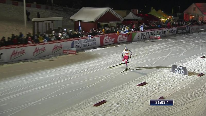 Riiber wins 10km individual large hill in Ruka